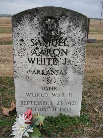 WHITE, JR (VETERAN WWII), SAMUEL AARON - Cross County, Arkansas | SAMUEL AARON WHITE, JR (VETERAN WWII) - Arkansas Gravestone Photos