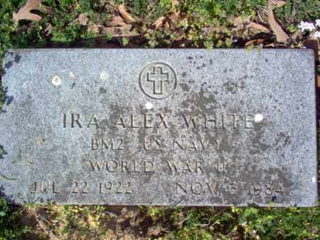 WHITE (VETERAN WWII), IRA ALEX - Cross County, Arkansas | IRA ALEX WHITE (VETERAN WWII) - Arkansas Gravestone Photos