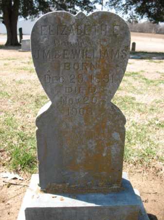 WILLIAMS, ELIZABETH E - Cross County, Arkansas | ELIZABETH E WILLIAMS - Arkansas Gravestone Photos