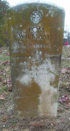 WILLIAMS (VETERAN WWI), TOM - Cross County, Arkansas | TOM WILLIAMS (VETERAN WWI) - Arkansas Gravestone Photos