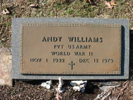 WILLIAMS (VETERAN WWII), ANDY - Cross County, Arkansas | ANDY WILLIAMS (VETERAN WWII) - Arkansas Gravestone Photos