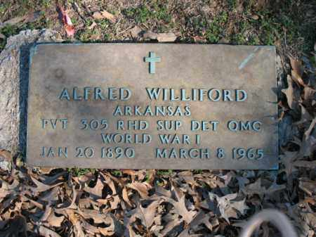 WILLIFORD (VETERAN WWI), ALFRED - Cross County, Arkansas | ALFRED WILLIFORD (VETERAN WWI) - Arkansas Gravestone Photos