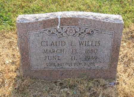 WILLIS, CLAUD E - Cross County, Arkansas | CLAUD E WILLIS - Arkansas Gravestone Photos