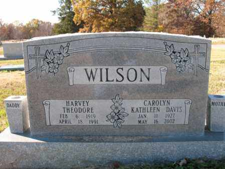 DAVIS WILSON, CAROLYN KATHLEEN - Cross County, Arkansas | CAROLYN KATHLEEN DAVIS WILSON - Arkansas Gravestone Photos