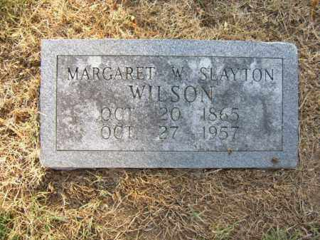 SLAYTON WILSON, MARGARET W - Cross County, Arkansas | MARGARET W SLAYTON WILSON - Arkansas Gravestone Photos