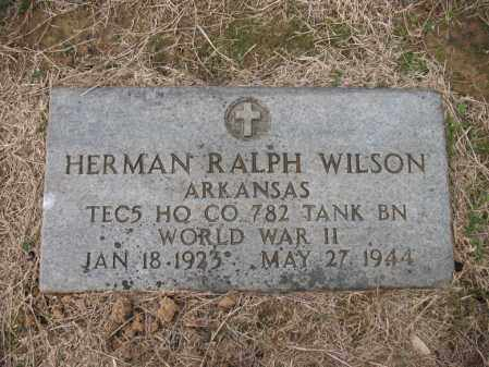 WILSON (VETERAN WWII), HERMAN RALPH - Cross County, Arkansas | HERMAN RALPH WILSON (VETERAN WWII) - Arkansas Gravestone Photos