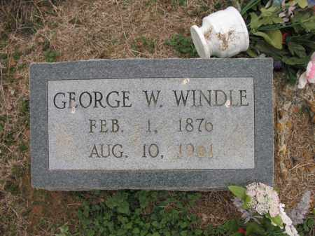 WINDLE, GEORGE W - Cross County, Arkansas | GEORGE W WINDLE - Arkansas Gravestone Photos
