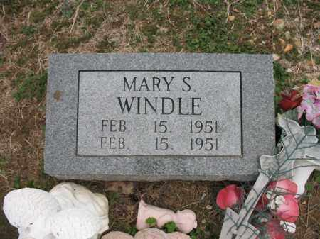 WINDLE, MARY S - Cross County, Arkansas | MARY S WINDLE - Arkansas Gravestone Photos