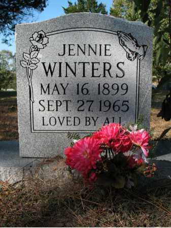 WINTERS, JENNIE - Cross County, Arkansas | JENNIE WINTERS - Arkansas Gravestone Photos