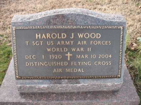 WOOD, HAROLD J - Cross County, Arkansas | HAROLD J WOOD - Arkansas Gravestone Photos