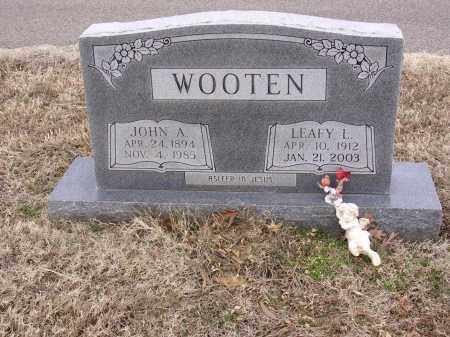 WOOTEN, JOHN A - Cross County, Arkansas | JOHN A WOOTEN - Arkansas Gravestone Photos