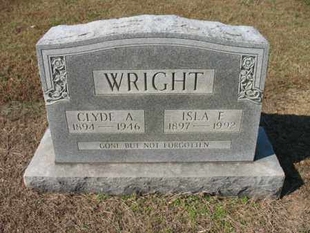 WRIGHT, CLYDE A - Cross County, Arkansas | CLYDE A WRIGHT - Arkansas Gravestone Photos