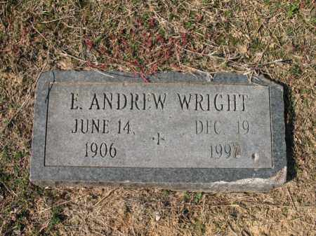 WRIGHT, E ANDREW - Cross County, Arkansas | E ANDREW WRIGHT - Arkansas Gravestone Photos