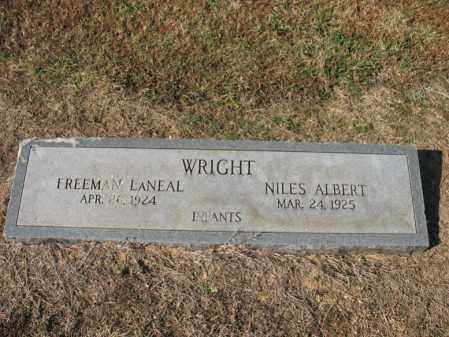 WRIGHT, FREEMAN LANEAL - Cross County, Arkansas | FREEMAN LANEAL WRIGHT - Arkansas Gravestone Photos