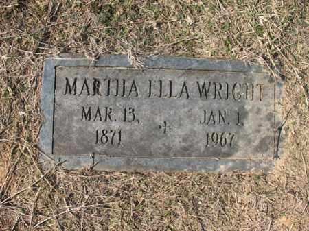 WRIGHT, MARTHA ELLA - Cross County, Arkansas | MARTHA ELLA WRIGHT - Arkansas Gravestone Photos