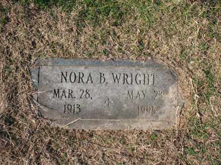 WRIGHT, NORA B - Cross County, Arkansas | NORA B WRIGHT - Arkansas Gravestone Photos