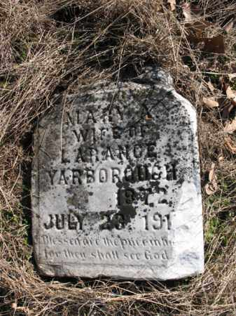 YARBOROUGH, MARY A - Cross County, Arkansas | MARY A YARBOROUGH - Arkansas Gravestone Photos