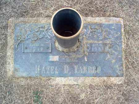 YARBRO, HAZEL D - Cross County, Arkansas | HAZEL D YARBRO - Arkansas Gravestone Photos