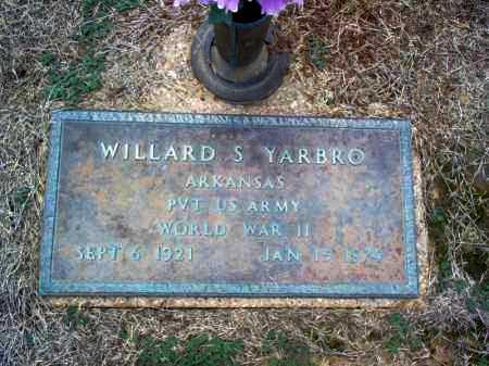 YARBRO (VETERAN WWII), WILLARD S - Cross County, Arkansas | WILLARD S YARBRO (VETERAN WWII) - Arkansas Gravestone Photos