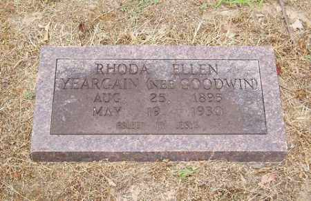 GOODWIN YEARGAIN, RHONDA ELLEN - Cross County, Arkansas | RHONDA ELLEN GOODWIN YEARGAIN - Arkansas Gravestone Photos