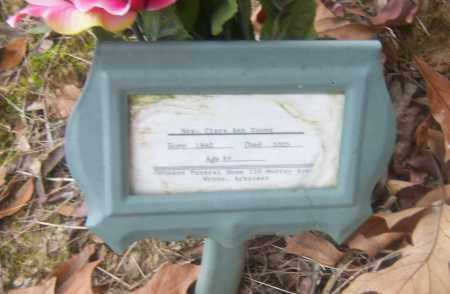 YOUNG, CLARA ANN - Cross County, Arkansas | CLARA ANN YOUNG - Arkansas Gravestone Photos