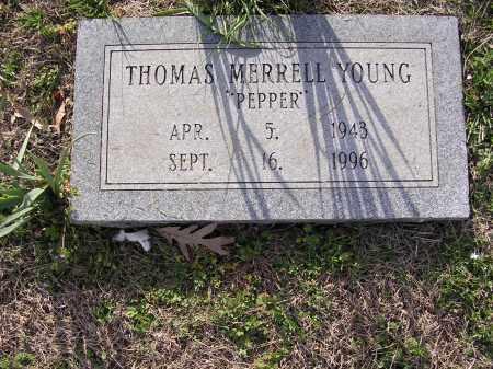 "YOUNG, THOMAS MERRELL ""PEPPER"" - Cross County, Arkansas | THOMAS MERRELL ""PEPPER"" YOUNG - Arkansas Gravestone Photos"