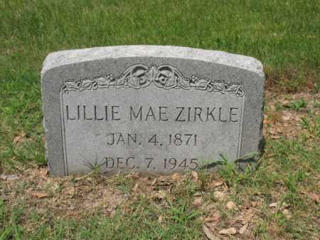 ZIRKLE, LILLIE MAE - Cross County, Arkansas | LILLIE MAE ZIRKLE - Arkansas Gravestone Photos