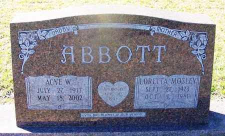 MOSELY ABBOTT, LORETTA - Dallas County, Arkansas | LORETTA MOSELY ABBOTT - Arkansas Gravestone Photos