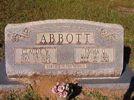 ABBOTT, EMMA O - Dallas County, Arkansas | EMMA O ABBOTT - Arkansas Gravestone Photos