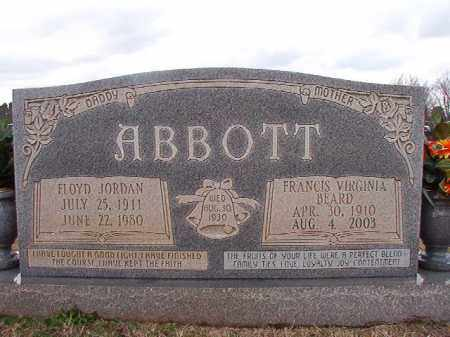 ABBOTT, FLOYD JORDAN - Dallas County, Arkansas | FLOYD JORDAN ABBOTT - Arkansas Gravestone Photos