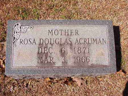 ACRUMAN, ROSA - Dallas County, Arkansas | ROSA ACRUMAN - Arkansas Gravestone Photos