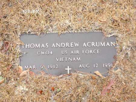 ACRUMAN (VETERAN VIET), THOMAS ANDREW - Dallas County, Arkansas | THOMAS ANDREW ACRUMAN (VETERAN VIET) - Arkansas Gravestone Photos