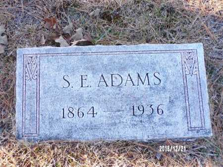 ADAMS, S E - Dallas County, Arkansas | S E ADAMS - Arkansas Gravestone Photos