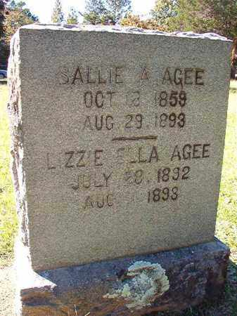 AGEE, SALLIE A - Dallas County, Arkansas | SALLIE A AGEE - Arkansas Gravestone Photos