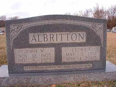 ALBRITTON, CLORA E - Dallas County, Arkansas | CLORA E ALBRITTON - Arkansas Gravestone Photos