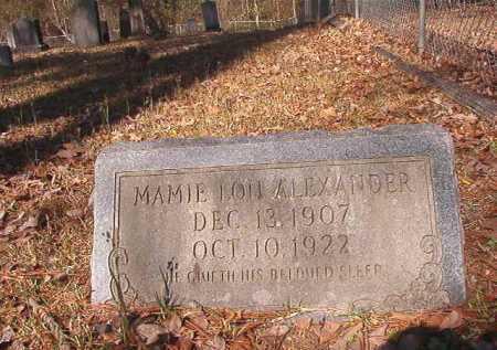 ALEXANDER, MAMIE LOU - Dallas County, Arkansas   MAMIE LOU ALEXANDER - Arkansas Gravestone Photos