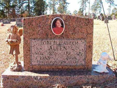 ALLEN, LORI ELIZABETH - Dallas County, Arkansas | LORI ELIZABETH ALLEN - Arkansas Gravestone Photos