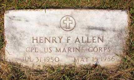 ALLEN (VETERAN), HENRY F - Dallas County, Arkansas | HENRY F ALLEN (VETERAN) - Arkansas Gravestone Photos