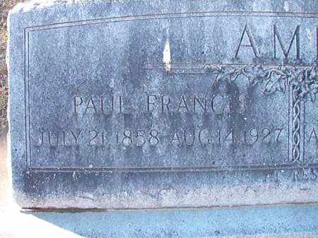 AMIS, PAUL FRANCIS - Dallas County, Arkansas | PAUL FRANCIS AMIS - Arkansas Gravestone Photos