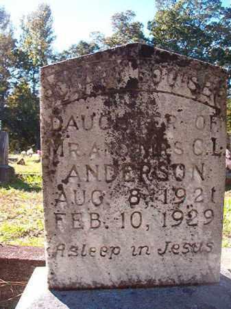 ANDERSON, CLARA LOUISE - Dallas County, Arkansas | CLARA LOUISE ANDERSON - Arkansas Gravestone Photos