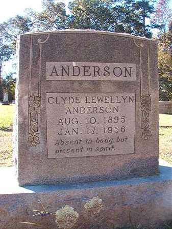 ANDERSON, CLYDE LEWELLYN - Dallas County, Arkansas | CLYDE LEWELLYN ANDERSON - Arkansas Gravestone Photos