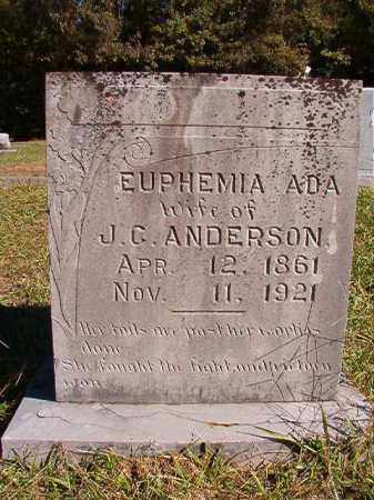 ANDERSON, EUPHEMIA ADA - Dallas County, Arkansas | EUPHEMIA ADA ANDERSON - Arkansas Gravestone Photos