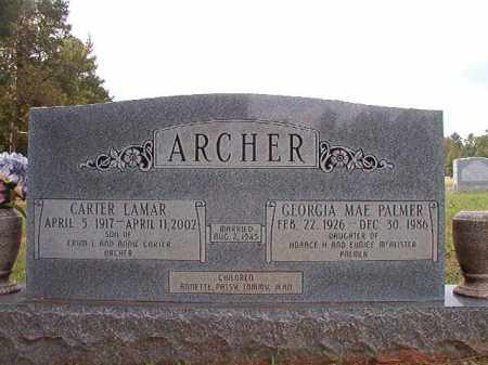 PALMER ARCHER, GEORGIA MAE - Dallas County, Arkansas | GEORGIA MAE PALMER ARCHER - Arkansas Gravestone Photos