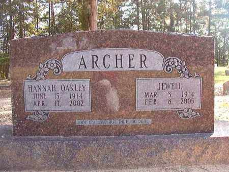 OAKLEY ARCHER, HANNAH - Dallas County, Arkansas | HANNAH OAKLEY ARCHER - Arkansas Gravestone Photos