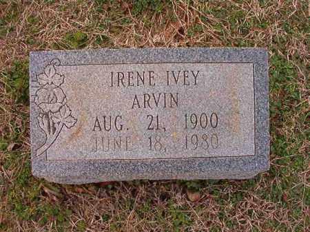 ARVIN, IRENE IVEY - Dallas County, Arkansas | IRENE IVEY ARVIN - Arkansas Gravestone Photos