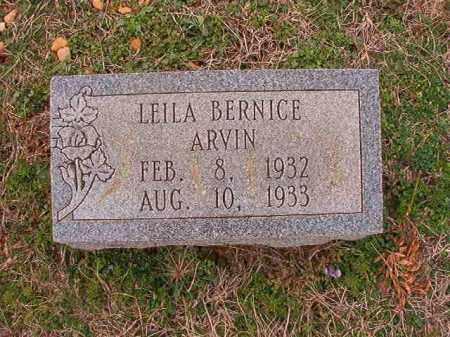 ARVIN, LEILA BERNICE - Dallas County, Arkansas | LEILA BERNICE ARVIN - Arkansas Gravestone Photos