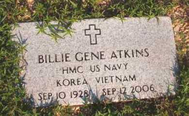 ATKINS (VETERAN 2 WARS), BILLIE GENE - Dallas County, Arkansas | BILLIE GENE ATKINS (VETERAN 2 WARS) - Arkansas Gravestone Photos