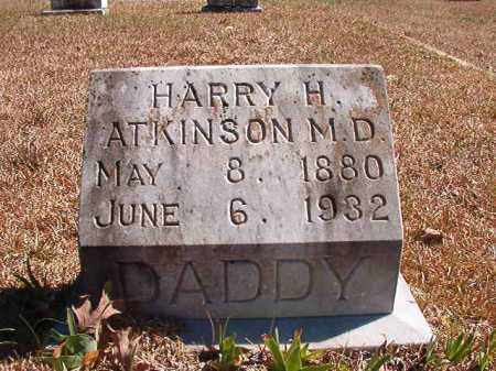 ATKINSON, MD, HARRY H - Dallas County, Arkansas | HARRY H ATKINSON, MD - Arkansas Gravestone Photos