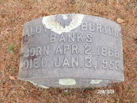 BANKS, ALOYSIUS BURTON - Dallas County, Arkansas | ALOYSIUS BURTON BANKS - Arkansas Gravestone Photos