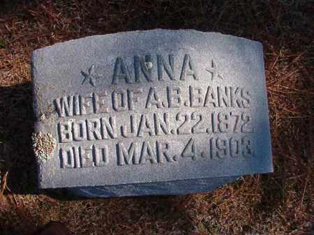 BANKS, ANNA - Dallas County, Arkansas | ANNA BANKS - Arkansas Gravestone Photos